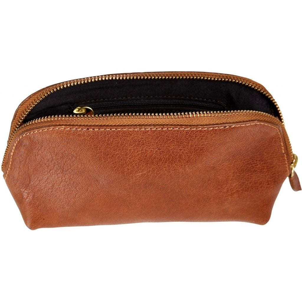 ZOEY ANGELIA MAKEUP BAG Bag 233 Cognac