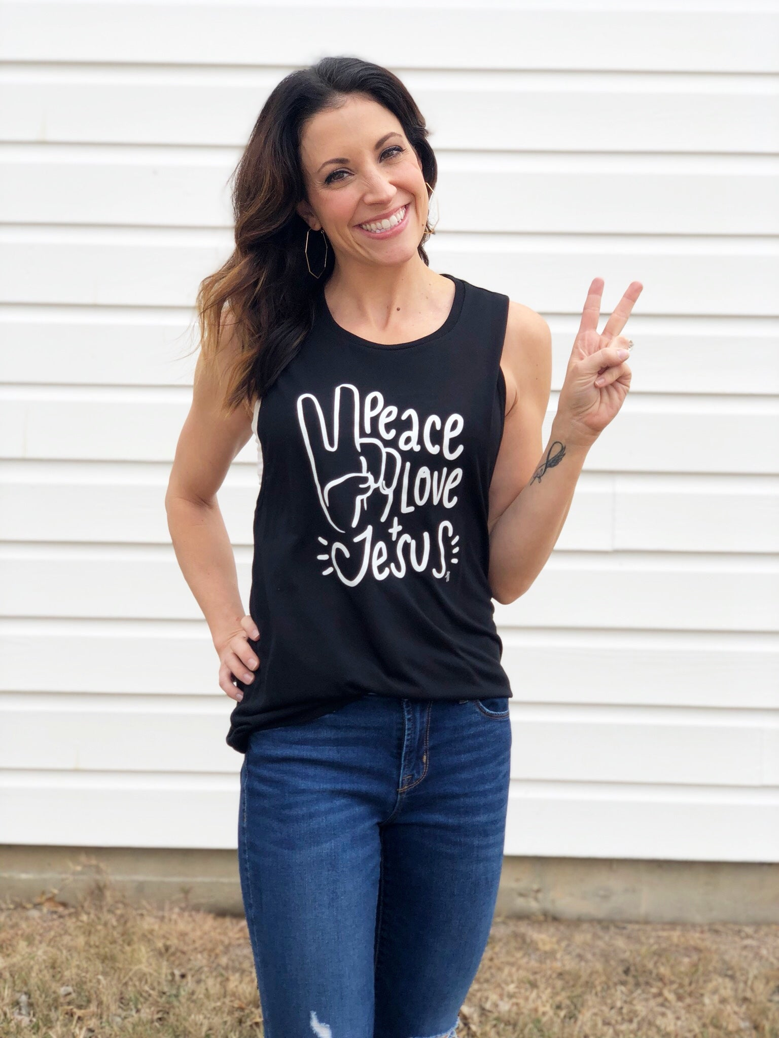 Peace, Love, & Jesus - Muscle Tank (Sold Out)