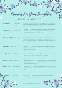 Praying Scripture Over Your Daughter- Heart, Mind & Soul