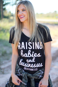 Raising Babies & Businesses - V Neck