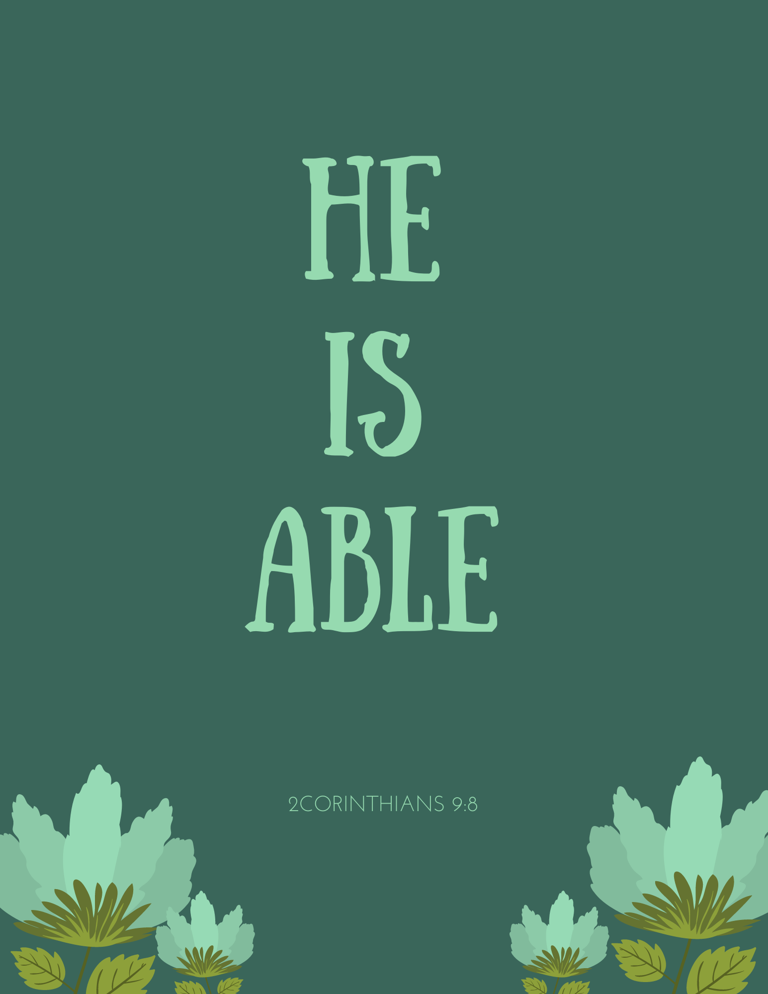 PRINTABLE- He Is Able