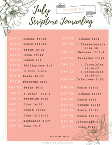 July Scripture Journaling Printable