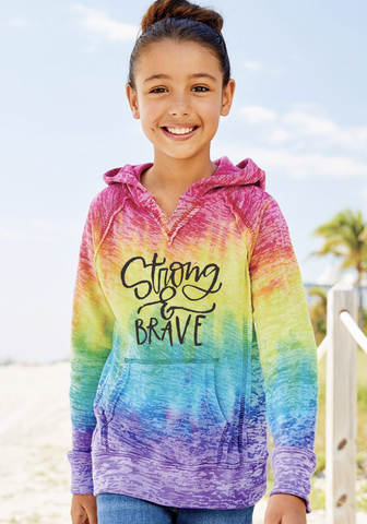 Strong and Brave Youth Hoody
