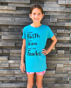 I Have Faith, Brave, Fearless Tee - Youth