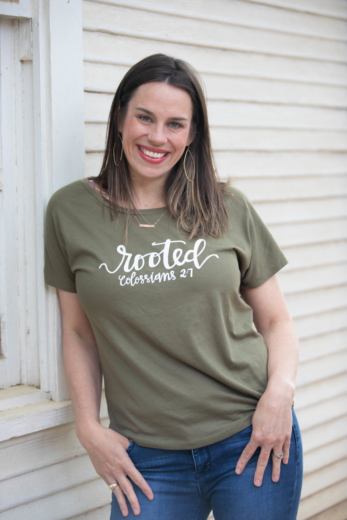 Rooted Ladies Triblend Scoop Tee