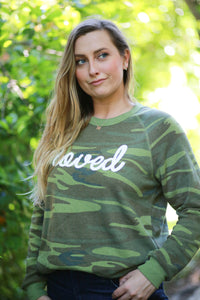 Loved - Camo Fleece Sweatshirt  (SOLD OUT)
