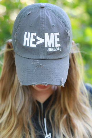 He>Me  - Distressed Hat  (SOLD OUT)