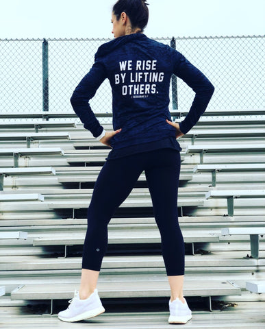We Rise Long Sleeve Scripture Hoody