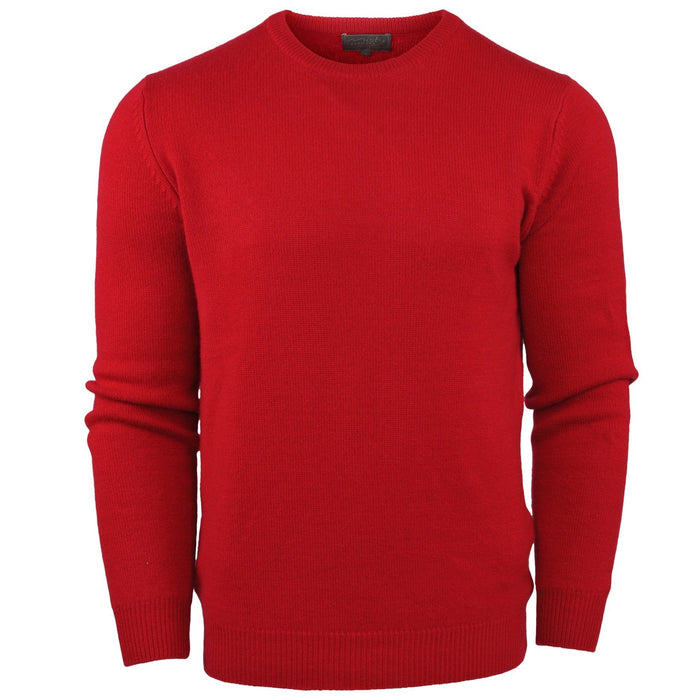Mens's Thick knit cashmere jumper in red from Misty Cashmere