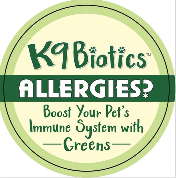 Does your dog have major skin allergies? K9Biotics can help you help your dog!