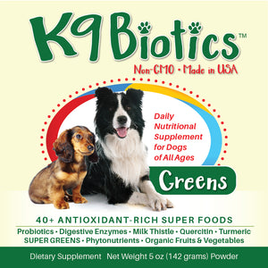 K9Biotics- Your pet's all in Probiotic and Broad Spectrum Supplement for digestive issues and allergies in your pets.