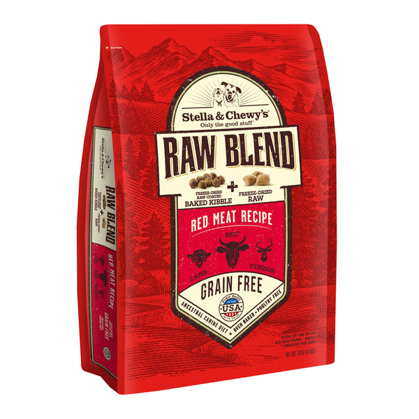 Holistic Dog Stella and Chewy's Raw Blend Baked Kibble Red Meat 10 lb