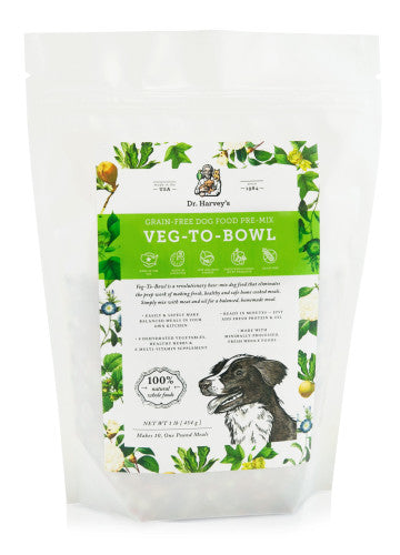 Holistic Dog Food Dr. Harvey's Veg-To-Bowl Grain-Free Dog Food Premix 1lb
