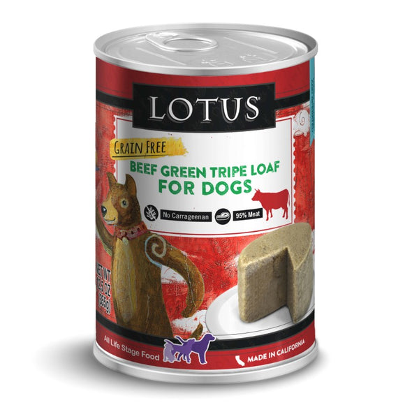 Lotus Beef Green Tripe Loaf for dogs