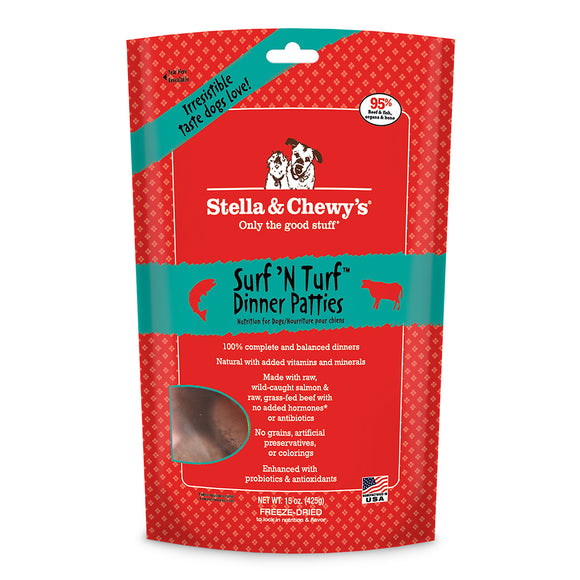 Holistic Dog Stella and Chewy's Freeze Dried Surf n Turf Patties 14 oz