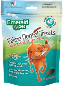 Holistic Cat Emerald Pet Dental Treats Ocean Fish 3oz
