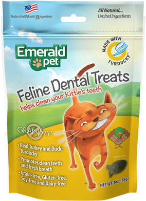 Holistic Cat Emerald Pet Grain Free Dental Treats Turducky 3oz