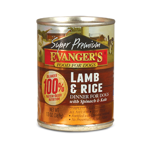 Holistic Dog Food Evanger's Lamb & Rice Dinner 12.8 oz