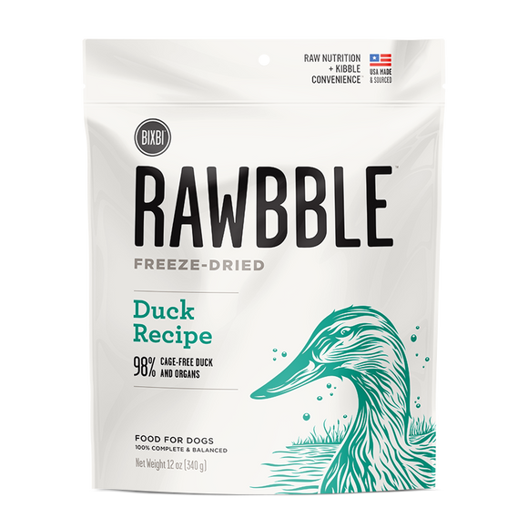 BIXBI Rawbble Freeze Dried Dogs - Duck 12oz