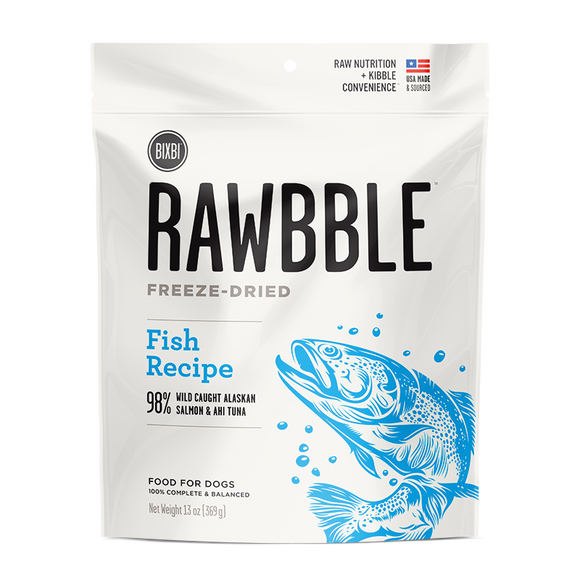 Bixbi Rawbible Freeze Dried Dogs Salmon and Chicken 13oz