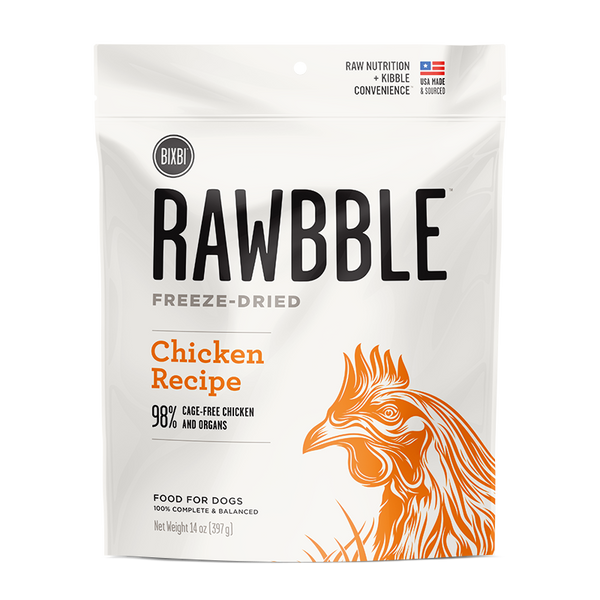 Bixbi Rawbble Freeze Dried Dog Chicken 14oz