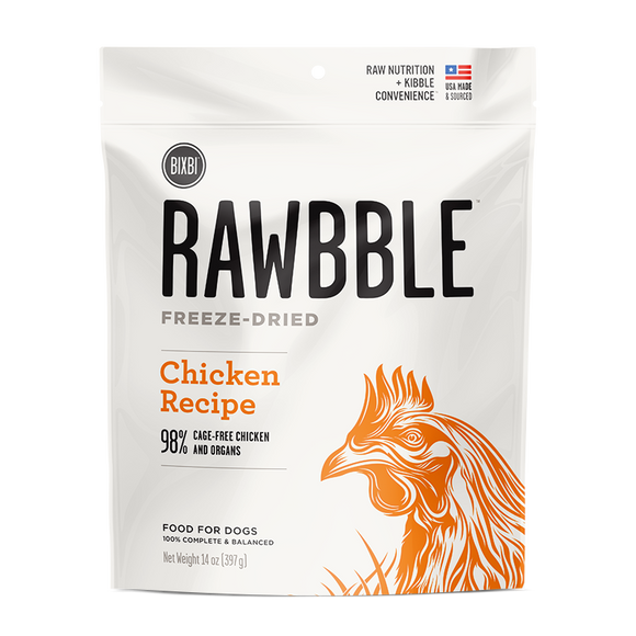BIXBI Rawbble Freeze Dried Dogs Chicken 30 oz