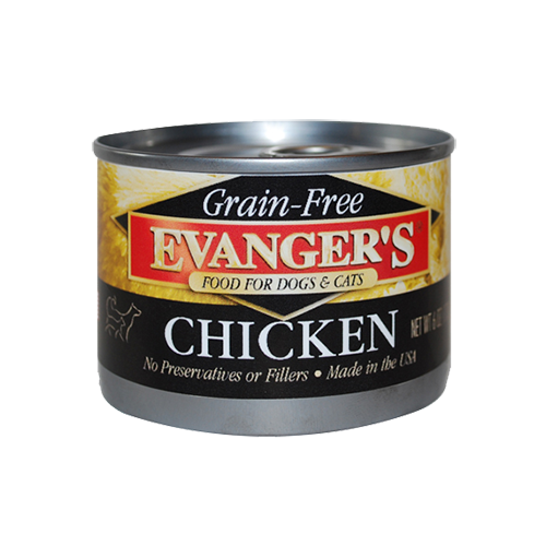 Holistic Cat and Dog Food Evanger's Grain Free Chicken 6 oz