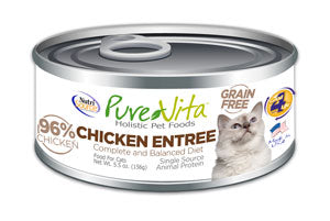 Pure Vita Chicken Entree Canned Cat Food 5.5 oz