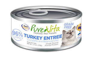 Pure Vita Turkey Entree Canned Cat Food 5.5 oz