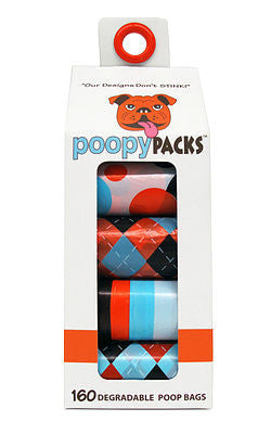 Holistic Pet Metro Paws Poopy Packs Orange Multi 8-Pack