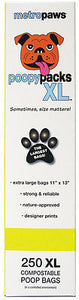 Holistic Pet Metro Paws Poopy Packs XL Yellow Circles  250 Ct