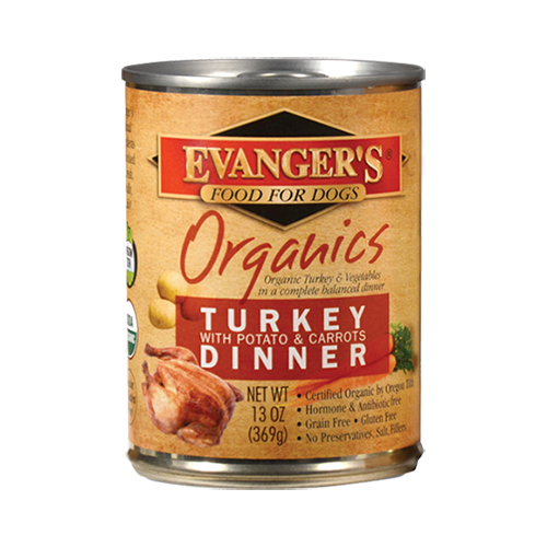 Holistic Dog Food Evanger's Organic Turkey with Potato & Carrots Dinner 13oz