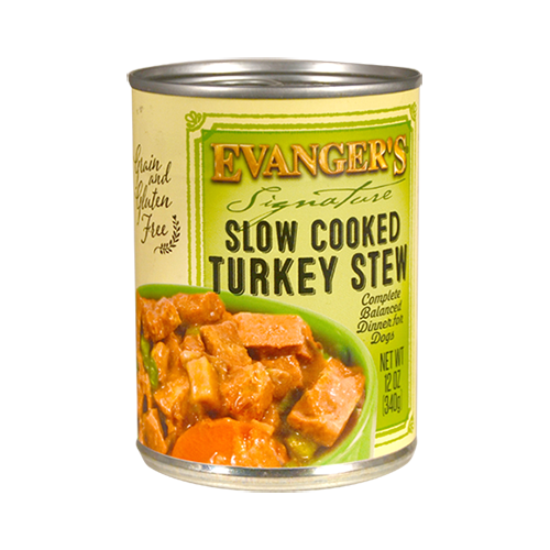 Holistic Dog Food Evanger's Grain Free Slow Cooked Turkey Stew – 12 oz