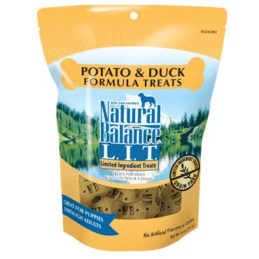 Holistic Dog Natural Balance LIT Treats Small Breed Potato & Duck 8 oz
