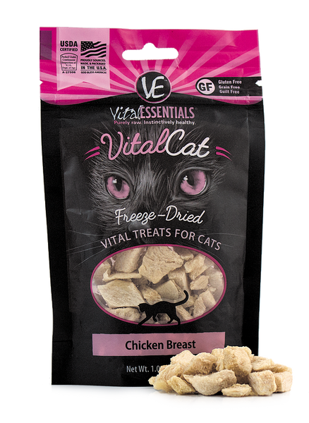 Holistic Cat Treats Freeze-Dried Vital Chicken Breast