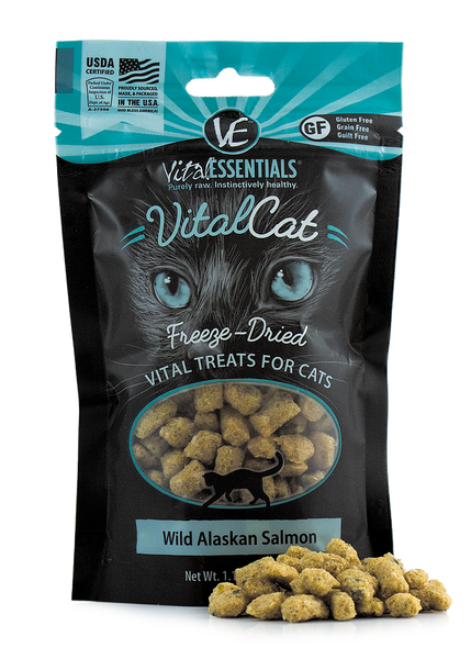 Holistic Cat Treats Freeze-Dried Vital Wild Alaskan Salmon