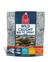 Holistic Pet Treats Plato Wild Caught Baltic Sprat Fish Dog Treats 3oz