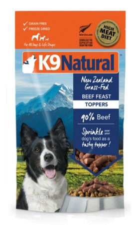 K9Natural Freeze Dried Beef Topper 5 oz
