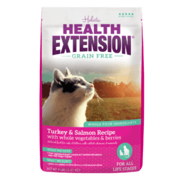 HEALTH EXTENSION GRAIN FREE SALMON AND TURKEY CAT FOOD 4LBS