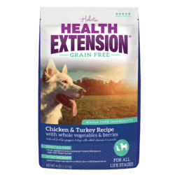 HEALTH EXTENSION GRAIN FREE CHICKEN AND TURKEY DRY DOG FOOD 4LBS