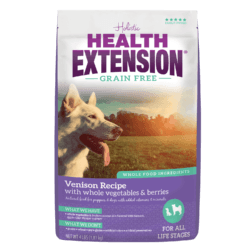 HEALTH EXTENSION VENISON AND CHICKPEA DRY DOG GOOD 4LBS