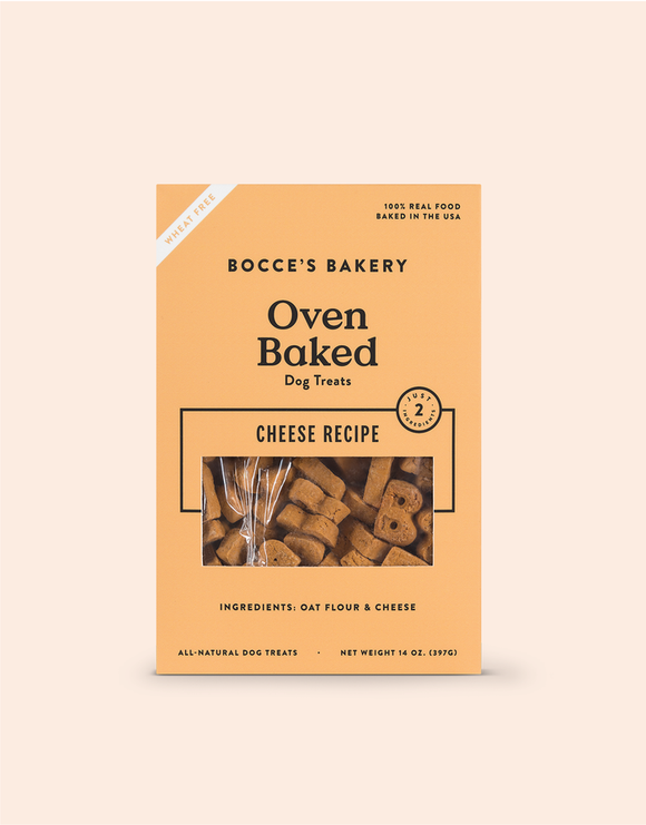 Holistic Dog Treats Bocce's Cheese Biscuits 14 oz
