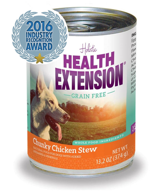 Holistic Dog Can Food Health Extension Chunky Chicken Stew 13.2 oz