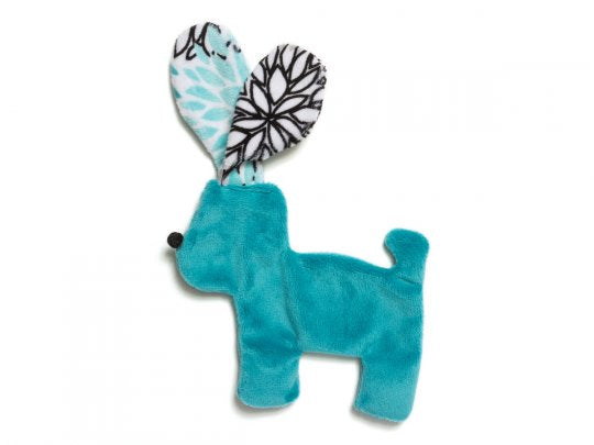 West Paw Floppy Dog Toy Teal Bloom
