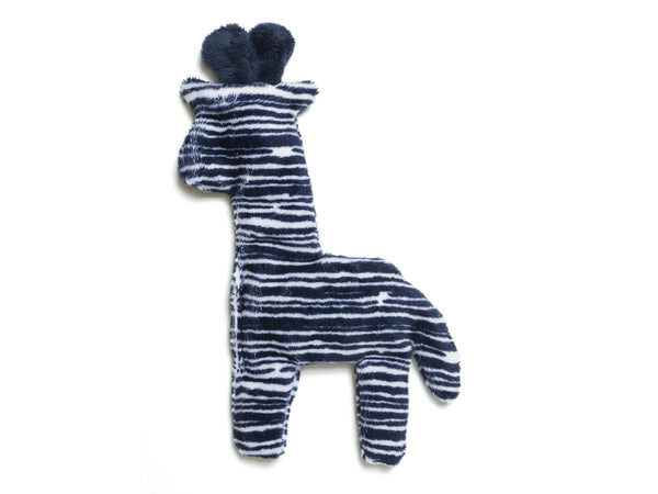 West Paw Floppy Giraffe Toy Navy Stripe Mini 8.5""