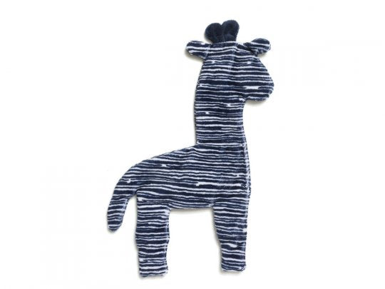 West Paw Floppy Giraffe Toy Navy Stripe Large 14""