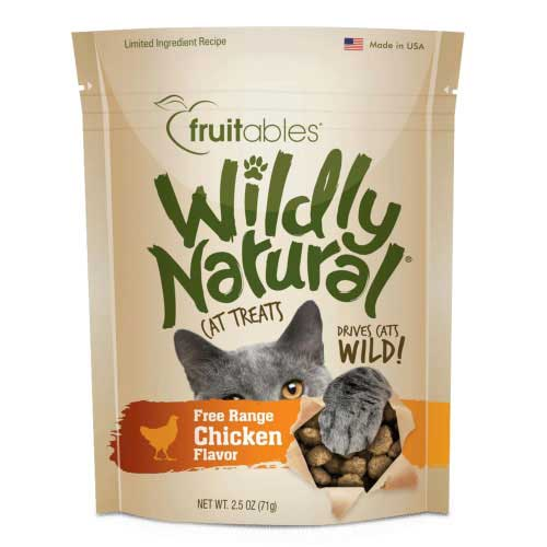 Holistic Cat Fruitables Wildly Natural Cat Treats Chicken 2.5 oz