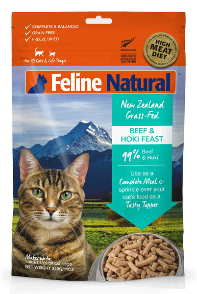 FELINE NATURALS Beef and Hoki Feast 11 OZ