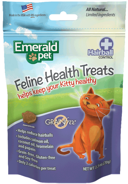 Holistic Cat Emerald Pet Health Treats Hairball Control 2.5oz