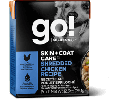 Petcurean Go! Solutions Skin and Coat Grain Free Shredded Chicken Recipe